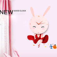Wholesale Brand new cute funny creative D DIY Rabbit wall stickers wall clock pink