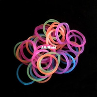 Wholesale Rainbow Loom Bands bags Glitter bags Glow in the dark bags tone bags Jelly bands C clips bag