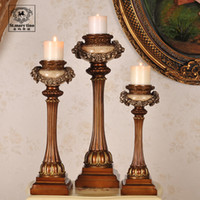 Wholesale 2014 EMS St Mary classical style living room Decoration wedding candelabra candle holders Lions