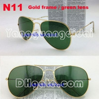 Wholesale Polarized sunglasses New Mens Womens Designer Sunglasses Sun Glasses mm Lens Adult Eyewear Unisex HOT Sale Gold Frame Green Lens