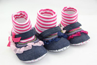 Wholesale Baby shoe Summer arrival Girl baby s tall canister female babies toddler shoes striped TJ X0065