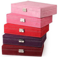 Wholesale 201420142014 wooden Cashmere Jewelry Display Storage Box hign quality colors drop shipping D518