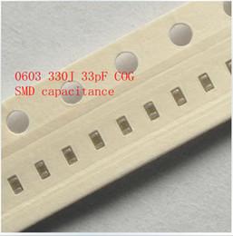 Wholesale 0603 J pF COG SMD capacitance Multilayer chip ceramic capacitor