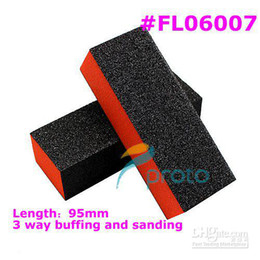 Wholesale Retails x High quality way BLACK block for buffing and sanding DIY manicure nail tool FL06007