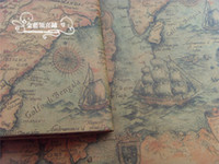 Wholesale Vintage Map Gift Wrapping Paper Gift Packaging Presnet Wrap DIY Material Wallpaper cm