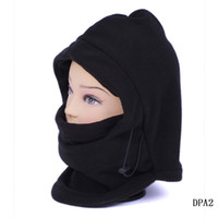 Wholesale Soft in Balaclava Thermal Fleece Scarf Face Mask Warm Cool Black Ski Cycling Windproof Caps DPA2