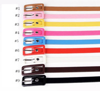 Wholesale Fluorescent Color Buckle Thin Belt Female Models Wild Female Korean fashion Fine Decorative Candy Colors Belt