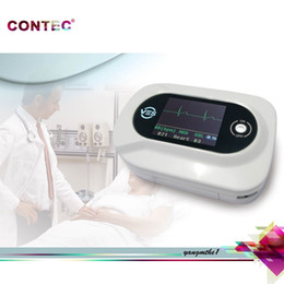 Wholesale CONTEC Multi Function Visual Electronic Stethoscope CMS VE ECG SPO2 PR Electronic Diagnostic Color LCD CE amp FDA Fast Shipping