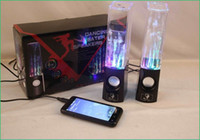 Wholesale Dancing Water Speaker Active Portable Mini USB LED Light Speaker For PC MP3 MP4 PSP