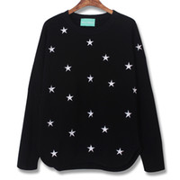 Men Polo Long Sleeve free shipping--D037 Dongguk door to new stylenanda autumn pentacle star embroidered long-sleeved T-shirt bottoming shirt