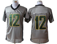 Wholesale Aaron Rodgers Green Bay Packer Elite Jerseys No Quarterback Grey Mens American Football Jerseys anti shrink Top Selling Activewear