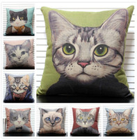 Wholesale Cheaper Cat Square Pillows Cushion Decorate for sofa and chair Home Decoration Soft cushions