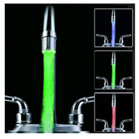 Wholesale LED faucet light temperature control sensing discoloration of three color light emitting hot and cold kitchen basin mixer L1000D