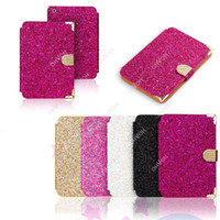 Wholesale S5Q Magnetic Crystal Diamond Flip Leather Case Stand Cover Protector For iPad Mini AAACUC