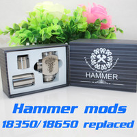 Electronic Cigarette mods hammer mod Hammer Mods full mechanical mod with 2 extension tubes 18350mAh 18500mAh 18650mAh vapor gift box kit e cigarette Nemesis Ikarus mod DHL free