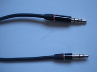 beat headphone - 3 mm Audio Jack Male to Male with Mic Remote Aux Cable For Monster Beats Headphone