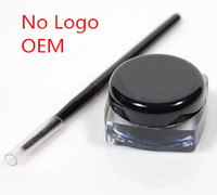 Wholesale No LOGO Have Your Own Label Eyeliner Waterproof Makeup Gel Cream Eye Liner Gel Cream Easy Dry With Brush Thick Fluent Line Creamy Eyeliners