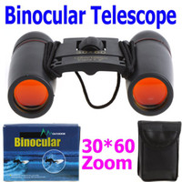 Wholesale 30X60 Zoom Mini Binoculars Telescope Folding Day Vision126m m with Retail Box