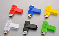 Wholesale 100pcs by DHL Smart Cell phone pendrives GB USB Flash Drive Thumbdrie pen drive U disk external storage micro usb memory stick