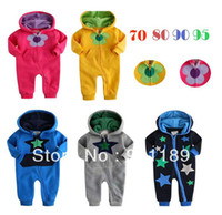 Boy Summer Baby Hot selling wholesale top quality long sleeve baby rompers toddler's bodysuits kids casual wear 100%cotton jumpsuit FreeShipping