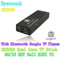 Wholesale MINI PC Smart MK808B Cheapest Hot selling Android TV BOX HDMI Dongle Player With Bluetooth Dual Core Cortex A9 G HDD G RAM