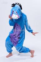Wholesale Onesies Kigurumi Unisex Pyjamas Animal Anime Costume Sleepwear Eeyore Donkey Unisex Kigurumi Pajamas Adult Anime Cosplay Costum