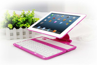 Wholesale 3 in Degree Rotate Multi Stand Hard Case with Bluetooth Keyboard Stand for quot ipad2 ipad3 ipad4