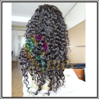 Wholesale Stock Factory Price Cheap Indian remy Human Hair Deep Wave Full Lace Wigs Tangle Free No Shedding