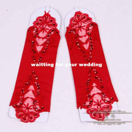 Wholesale The bride wedding dress gloves fingerless lace gloves a long section of flexible new Korean