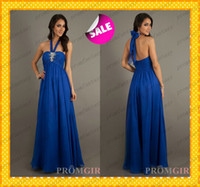 Royal Blue Chiffon Empire Bridesmaid Dresses Cheap Under 100...