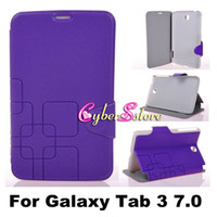 Wholesale Fashion Thin Square Grid Check PU Flip Leather Case Cover With Stand For Samsung Galaxy Tab P3200 P3210