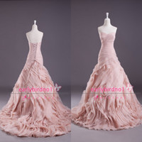 A-Line church dresses - Real Image A Line Wedding Dresses Sexy Sweetheart Ruffles Organza Tiered Summer Beach Church Glitz Lace up Bridal Gowns BO3703