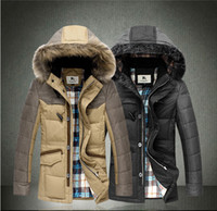 Wholesale 2013 NWT Winter Luxurious fox fur collar Men Down Coats Fashion Elegant Mens Slim Coats