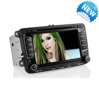 Wholesale WIFI G Function Touch Screen Double DIN Car DVD Player with GPS Navigation IPOD Bluetooth AU FM AM TV for Volkswagn Passat Jetta Golf