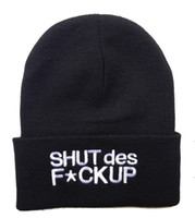 Snapbacks Unisex Spring & Fall Brand New hiphop SHUT DES FUCK UP beanies hats men & women's fashion snapbacks hats black grey freeshipping !