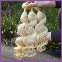 Cheap 5A Brazilian virgin hair 613 color body wave 3pcs lot human weft hair extension mix length 8-30inch 613 hair color free shipping