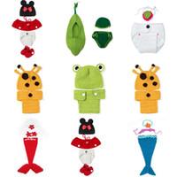 Boy Winter Crochet Hats For 0-24 Months Baby Infant Newborn Crochet Knit Beanie Lovely 10 Cartoon Design Photography Props Hat Caps Set Free Shipping XDT*1