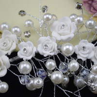 Wholesale Handmade pearl wedding bridal headdress head flower hair ornaments amount of soft ornaments wedding accessories
