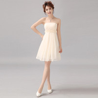 Wholesale 2013 bridal wedding dress bridesmaid dress short paragraph bridesmaid dress wedding toast clothing skirt photo show