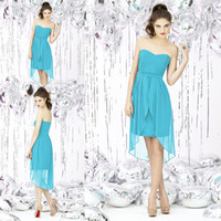 Cheap Turquoise Sweetheart Bridesmaid Dress | Free Shipping ...