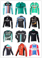 Wholesale 2014 new winter bianchi bicycle sports clothing styles long Sleeve Cycling jersey II