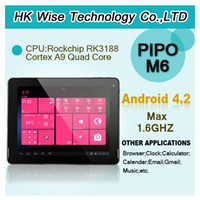 Wholesale hk amp in stock inch PIPO M6 IPS Retina Capacitive Touch Screen Dual camera GB RAM GB HDD Android John
