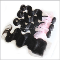 Body Wave Brazilian Hair Human Hair 5A Virgin Brazilian Body Wave 3 Bundles With Top Lace Closure Free Shipping, 100% Virgin Remy Unprocessed Hair ExtensionWeave