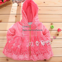 Jackets Girl Spring / Autumn Princess Jacket Child Clothing Girls Cute Lace Embroidered Coat Kids Cotton Jackets Baby Hooded Coat Children Polka Dot Jacket Girl Clothes