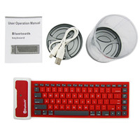 Wholesale Waterproof silicone Soft Keyboard Wireless Bluetooth Keyboard for ipad2 ipad3 ipad4