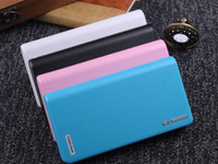 Wholesale 20000mAh Wallet style Huge Capacity Dual USB Portable Backup Battery External Power Bank Charger For Universal Mobile Phone Tablets ETC