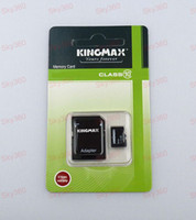 Wholesale Kingmax GB Class Micro sd card TF Memory Card Free Adapter Retail Package bubble bag sky360