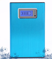 Wholesale 20000mAh Metal style Huge Capacity Dual USB Portable Backup Battery External Power Bank Charger For Universal Mobile Phone Tablets ETC