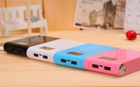 Wholesale 12000mAh Huge Capacity Dual USB LED lighting Portable Backup Battery External Power Bank Charger For Universal Mobile Phone Tablets ETC