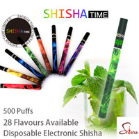 Electronic Cigarette nicotine - ShiSha Time Disposable Pens E Hookah Vapor Shisha Electronic Cigarette Fruit Flavors No nicotine Puffs Staniless Tube